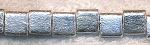 Satin Silver Square Beads, 8mm (10)