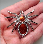 Spider Jewelry Connector, Crystal Studded Large Spider