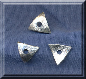 Sterling Silver 8mm Bent Triangle Bead Cradle Bead Caps (10)