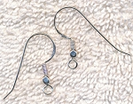 Sterling Silver Earwires with Coil and Cubed Ball, Pair