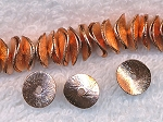Copper Brushed Potato Chip Spacer Bead 10mm
