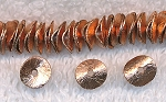 Copper Brushed Potato Chip Spacer Bead