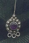 Amethyst Head Pins, Sterling Silver and Gemstone Chandelier Headpins (2)