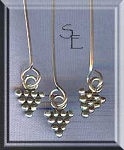 Sterling Silver Headpins with Pyramid Drop Accent (10)