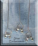 Sterling Silver Head Pins with Double-Dangles (2)