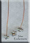 Copper and Sterling Silver Head Pins, Daisy Accent (2)