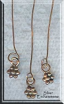 Solid Copper Head Pins with Daisy Dangle (10)
