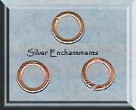 Solid Copper Closed Jump Rings, 7mm (10)