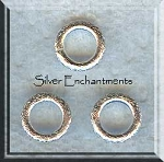 Bright Brushed Sterling Silver 10mm Closed Jumpring