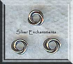 Sterling Silver 6mm Celtic Love Knot Closed Jump Rings (2)