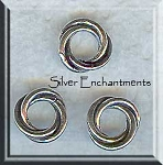 Sterling Silver 10mm Celtic Love Knot Closed Jump Rings (2)