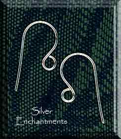 SOLDOUT - Silver Plated Simple Ear Hook Wires Earring Hooks, 20pc