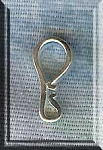 Sterling Silver J-Hook Clasp or Bail, 19mm