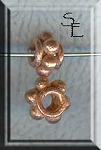 Copper 8mm Thick Dotted Spacer Beads (10)