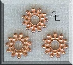 Copper Large Hole Snowflake Spacer Beads, 14mm 3mm Hole (10)