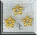 Vermeil 8mm Star Spacers (10)