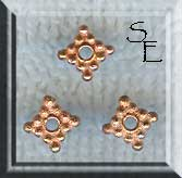 Copper Diamond Spacer Beads, 8mm (10)