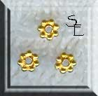 Vermeil Daisy Spacers, 4mm (10)