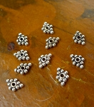 Sterling Silver Wing-Shaped Beads, 7x5mm Jewelry Spacers (10)