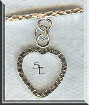 Sterling Silver Heart Toggle Clasp, Hammered