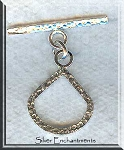 Hammered Teardrop Toggle Clasp, Sterling Silver