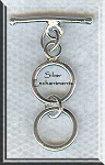 Sterling Silver 2-Ring Expansion Toggle Clasp, Expandable