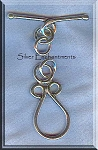 Sterling Silver Teardrop Loop Toggle Clasps