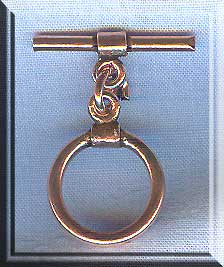 Solid Copper Round Toggle Clasp with Wrap Detail
