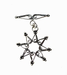 Silver Fancy Boho Sun Toggle Clasp, Sterling
