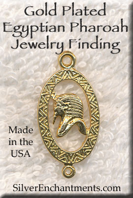 Gold Plated Pharaoh Egyptian Jewelry Finding