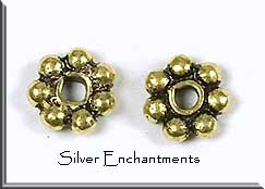 Gold Plated Copper 6mm Daisy Spacers (10)