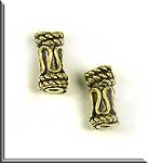 Antique Gold Plated Bali Look Tube Bead