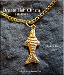 Gold Plated Fish Charm, Fancy