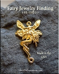 Gold Plated Fairy Jewelry Connector Finding, Victorian