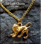 Gold Plated Lion Charm, 3D