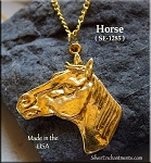Gold Plated Horse Pendant - CLOSEOUT