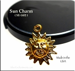 Gold Plated Sun Charm, Joyful