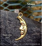 Gold Plated Crescent Moon Charm
