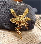 Gold Plated Fairy Pendant, Victorian with Hidden Bail