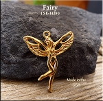 Gold Plated Fairy Pendant, Nymph Slyph