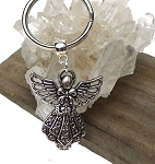 Angel Key Ring, Ornate Angel Spiritual Keychain, Angel Keychain