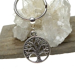 Tree of Life Keychain, Ringed Tree of Life Key Ring, Ringed Tree Key Chain