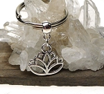Silver Lotus Key Ring