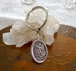 Saint Michael Keyring, Double Sided Guardian Angel Key Chain, St Michael Keychain Key Ring
