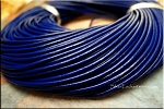 Leather Cord, Navy Blue 2mm, 10-feet