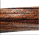 Golden BROWN SNAKESKIN Leather Strap 10mm