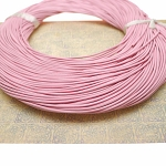 Pink 1mm Round Natural Leather Cord