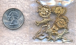 Solid Brass Jewelry Findings, 10-piece Lot - Quarter Shown for Size Reference (not included)