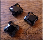 Crystal Beads, Cross Black 22mm
