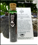 Strega Black Salt with Mano Fico - Stregheria Italian Witchcraft Ritual Black Salt with Rue, Wormwood, Hyssop and Bael-Fire Ash